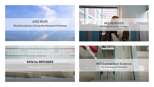 Image grid of the title screens of SSRC's research story videos